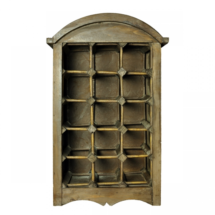 weinregal aus holz f r 15 flaschen black and gold design. Black Bedroom Furniture Sets. Home Design Ideas